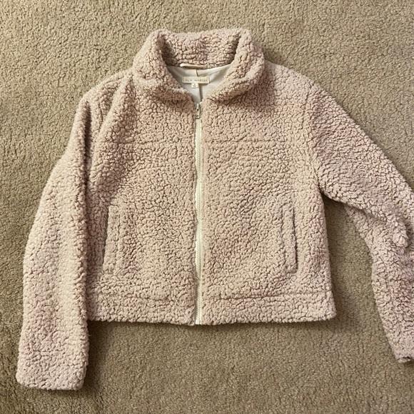 La Hearts Jackets & Blazers - cropped teddy coat